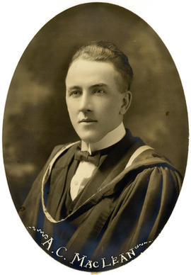 Portrait of Alexander Charles MacLean : Class of 1922