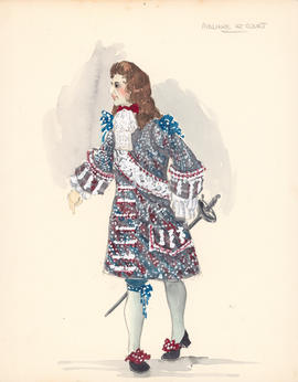 Costume design for Moliere at court