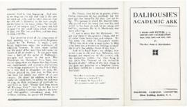 Dalhousie's Academic Ark : A Brief Pen Picture of the Centenary Celebration September 11-13, 1919...