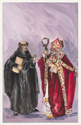 Costume design for Father Toulon and Archbishop Monselet