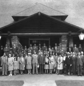 Photograph of delegates at the ninth annual Telephone Association of Canada convention in Jasper ...