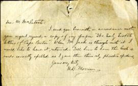 "Manuscript of ""The Early Scotch Settlers of Cape Breton"" by M.D. Morrison"