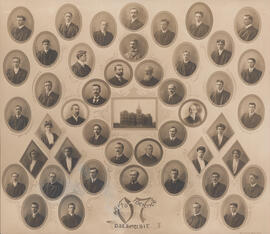 Composite photograph of Arts and Science Faculty and Class of 1907