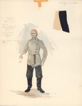Costume design for Treplev : Acts I-III