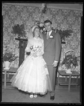 Photograph of Marilyn MacPherson and her husband on their wedding day