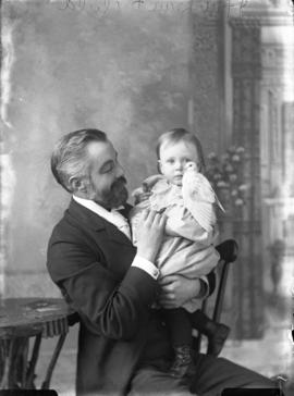 Photograph of  J. F. McLean and his daughter