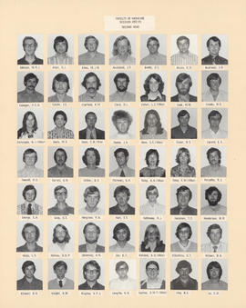 Composite photograph of the Faculty of Medicine - Second Year Class, 1972-1973 (Addison to Lo)