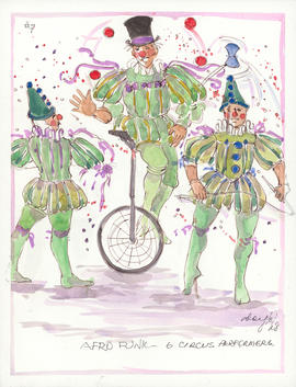 Costume design for Afro Funk circus performers