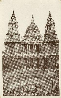 Postcard of the St. Paul's Cathedral, London