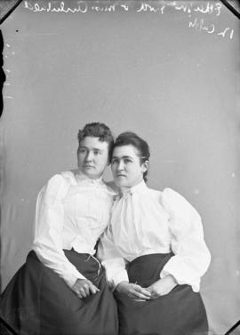Photograph of Etta McLeod and Miss Archibald