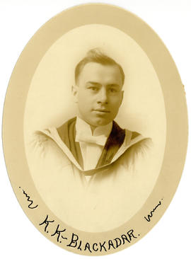 Portrait of Karl Kenneth Blackadar : Class of 1916