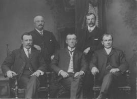 Portrait of five master mariners