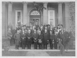 Photograph of professors and others at Dalhousie University's centenary celebrations