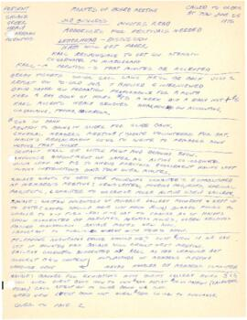 Minutes from a June 26, 1975 board meeting at Eye Level Gallery