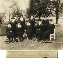 Photograph of Massachusetts-Halifax Health Commission, nurses of Health Centre No. 1