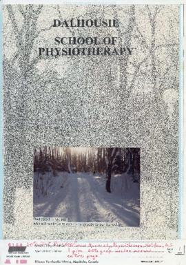 Layout pages for the Dalhousie School of Physiotherapy yearbook 1988