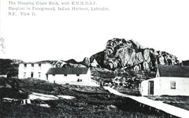 Photograph of The Sleeping Giant Rock with Royal National Mission Deep Sea Fishermen Hospital in ...