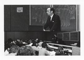 Photograph of Andrew MacKay lecturing
