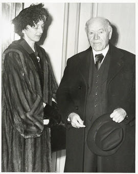 Photograph of Lady Dunn and unidentified man