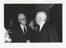 Photograph of Norman A. M. MacKenzie and an unidentified man