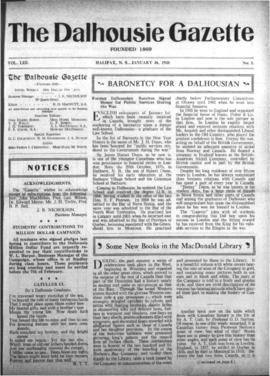 The Dalhousie Gazette, Volume 53, Issue 3