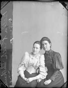 Photograph of Bella Keith and her friend