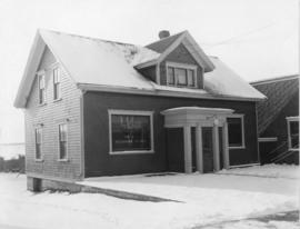 Photograph of the exterior of the front of the central office of the Prince Edward Island Telepho...