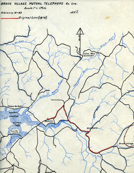 Maps of Brook Village Mutual Telephone Company's telephone line