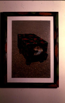Photograph of a work by Sean McQuay on display during the Locations/National group exhibition