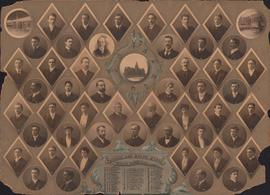 Photographic collage of the Dalhousie University Arts and Science faculty and senior class of 1904