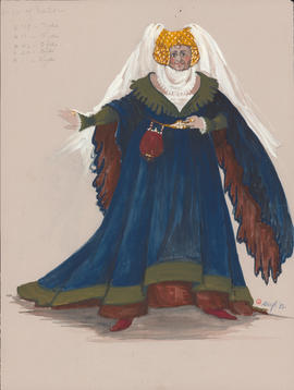 Costume design for the Wife of Bath