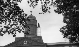 Photograph of the Henry Hicks Academic Administration Building clock tower