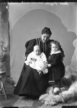 Photograph of Mrs. Fergie and children