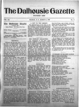 The Dalhousie Gazette, Volume 52, Issue 11