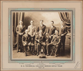 Photograph of N. S. Technical College Senior Rifle Team