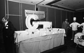 Photograph of an ice sculpture