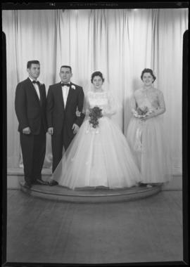 Photograph of Mr. and Mrs. Aiken and their wedding party