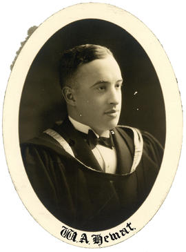 Portrait of William Auchmuty Hewat : Class of 1928