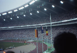 Photograph of the 1500 metres won by New Zealand's John Walker