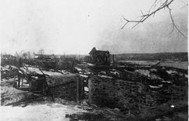 Photograph of an unidentified exterior shot after the Halifax Explosion