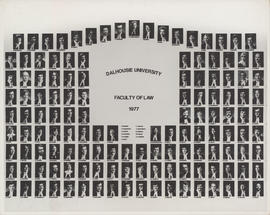 Composite photograph of Faculty of Law graduates of 1977