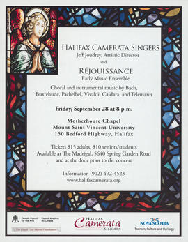 Choral and instrumental music : a concert with Rejouissance : [poster]