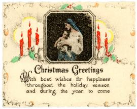 Christmas Greeting Postcard from Waite Bigelow