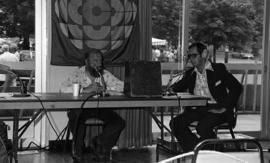 Photograph taken at a CBC radio broadcast at the Dalhousie Arts Centre
