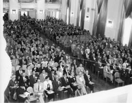 Group of delegates at a general assembly session