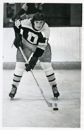 Photograph of John MacLeod of the Dalhousie University hockey team