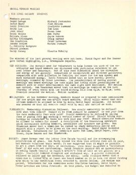 Minutes from a general members meeting held on October 16, 1975
