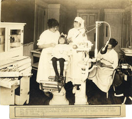 Photograph of Dr. Arrabelle MacKenzie's pre-school-age Dental Clinic of Health Centre No. 1