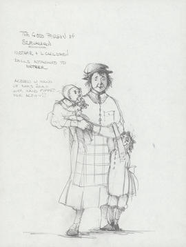 Costume design for mother and two children