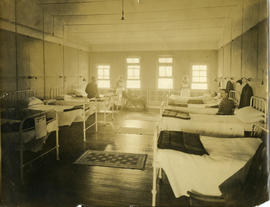 Interior of a hospital room